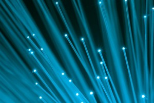 Fibre-optics used for a leased line.